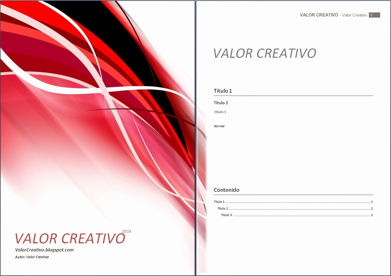 Formatos De Portadas Para Word Beautiful Valor Creativo