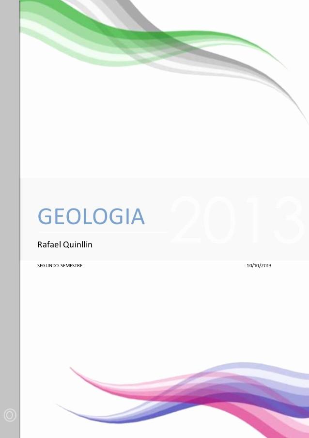Formatos De Portadas Para Word Lovely Terminos orientados A La Geologia