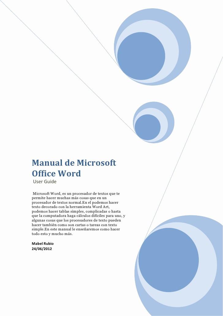 Formatos De Portadas Para Word Luxury Manual Para Microsoft Office Word