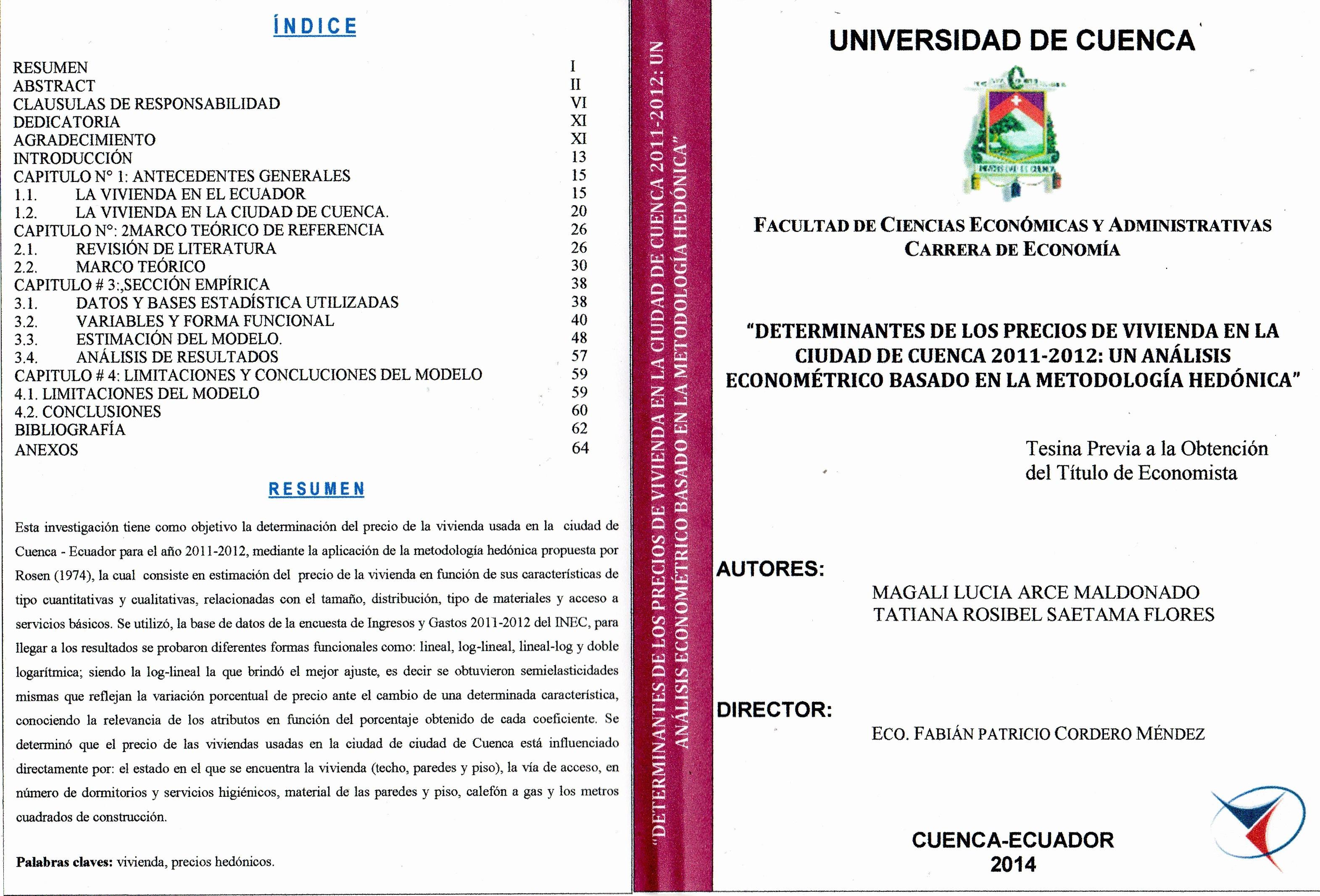 Formatos De Portadas Para Word Unique Repositorio Digital De La Universidad De Cuenca formato