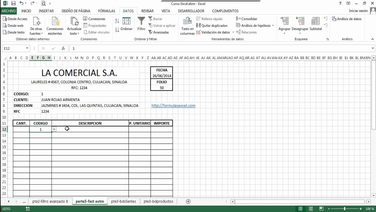 Formatos De Remision En Excel Awesome Curso De Excel Parte 3 Llenado Automático De formato
