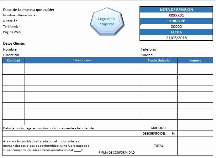 Formatos De Remision En Excel Beautiful formato De Remision En Excel