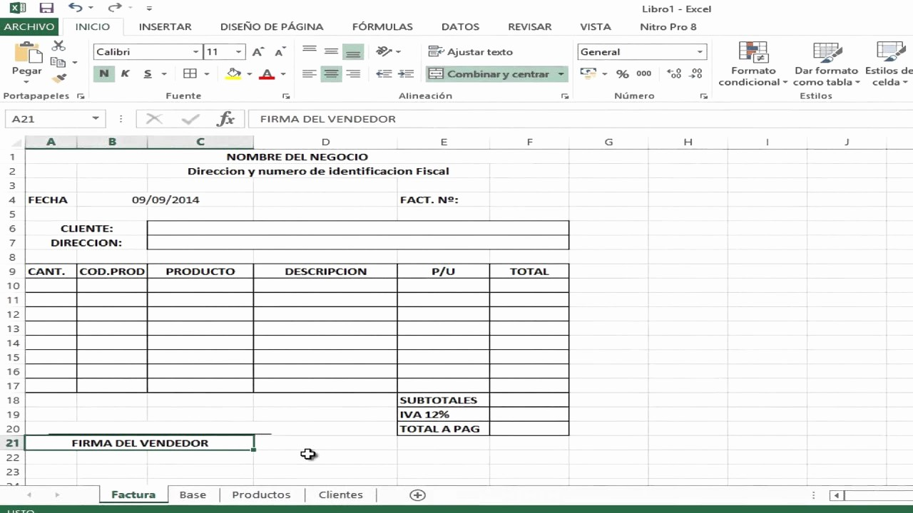 Formatos De Remision En Excel Lovely O Crear Tu Sistema De Facturacion De Venta Video 1