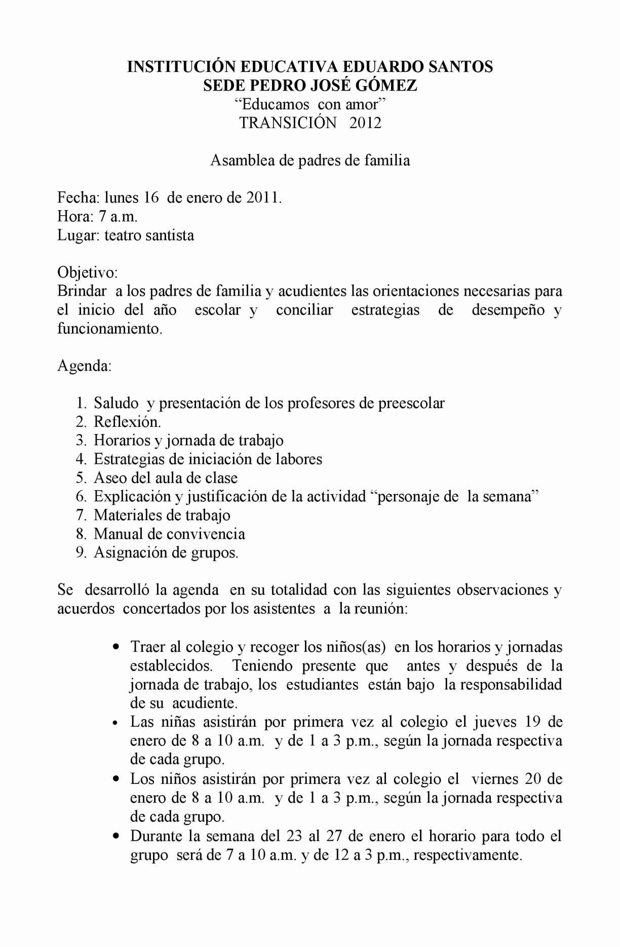 Formatos Para Actas De Reuniones Beautiful Calaméo Acta Preescolar