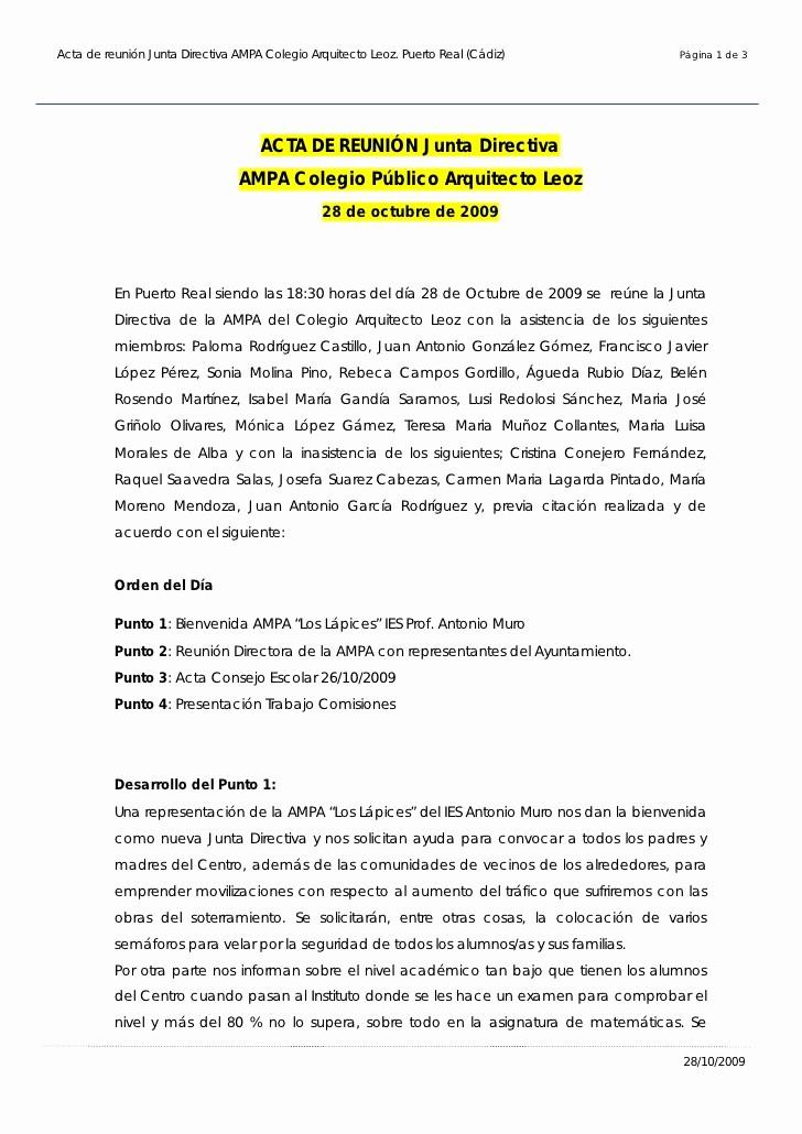 Formatos Para Actas De Reuniones Elegant Acta Reunion Junta