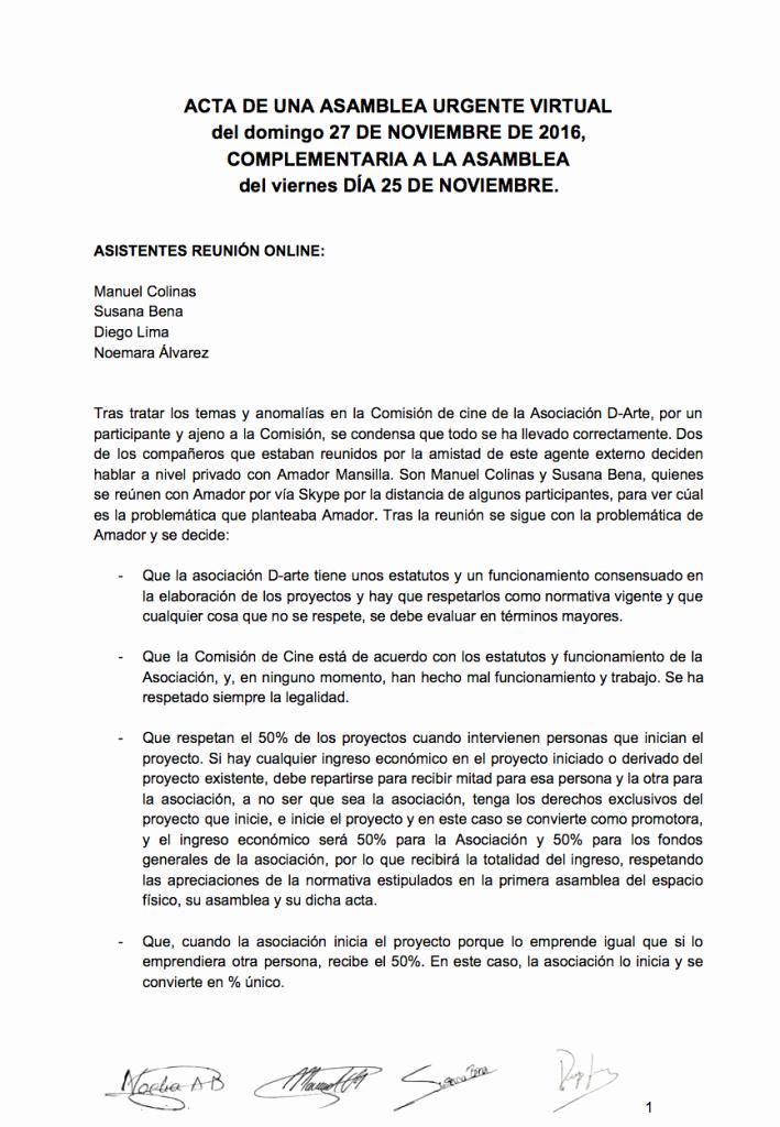 Formatos Para Actas De Reuniones Elegant Acta Reunión Urgencia Line Domingo 27 Noviembre 2016