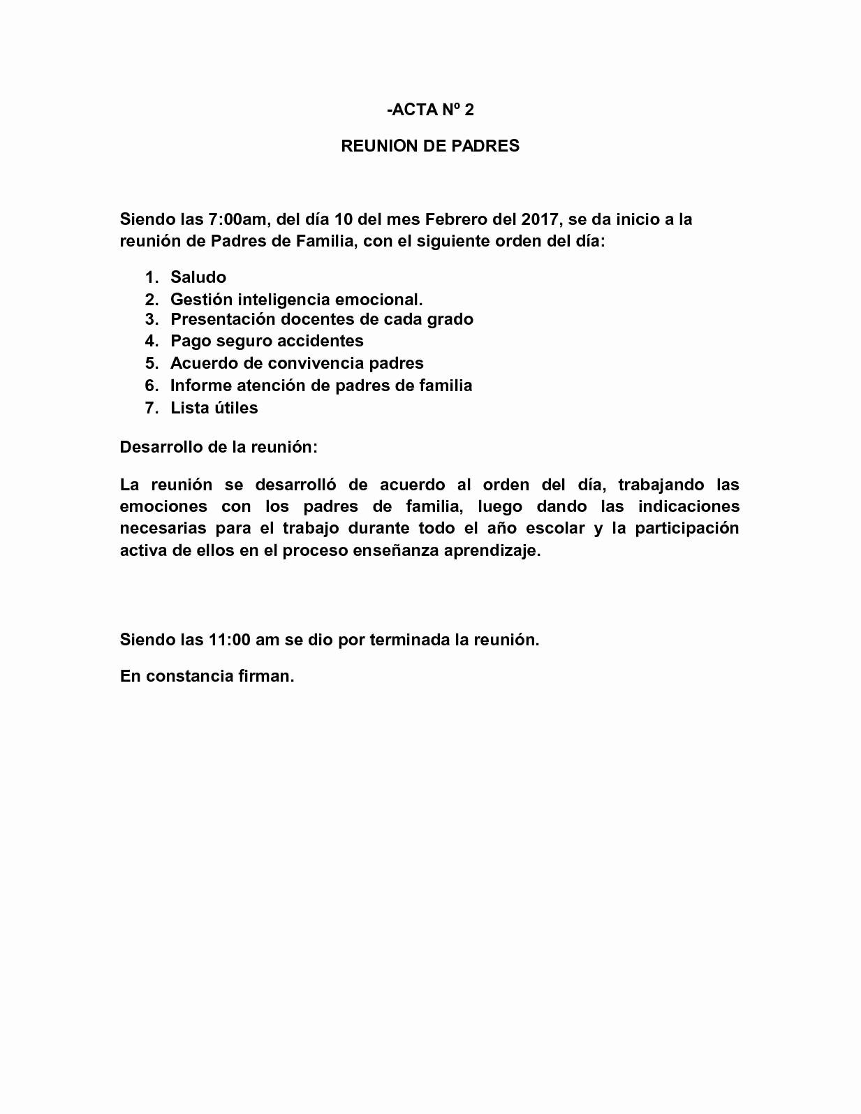 Formatos Para Actas De Reuniones New Calaméo Actas Reuniones Padres