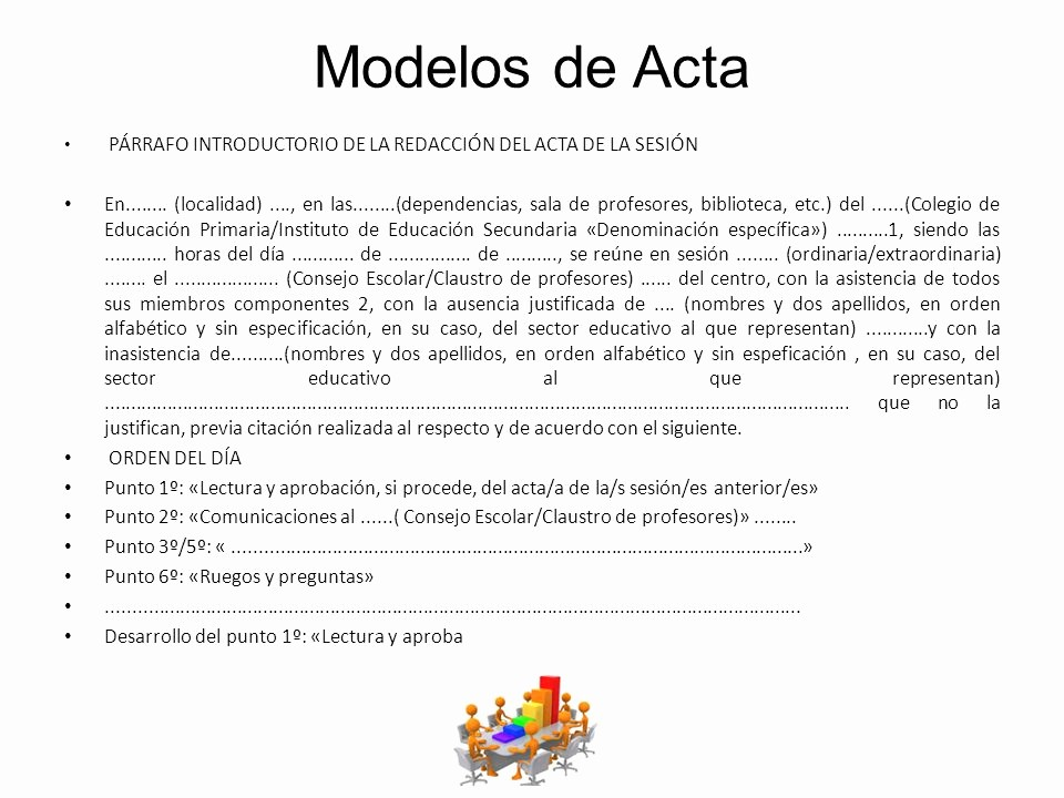 Formatos Para Actas De Reuniones Unique Actas De Los organos Colegiados De Un Centro Educativo