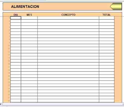 Formatos Para Control De Gastos Awesome formato En Excel Control De Ingresos Y Gastos Personales