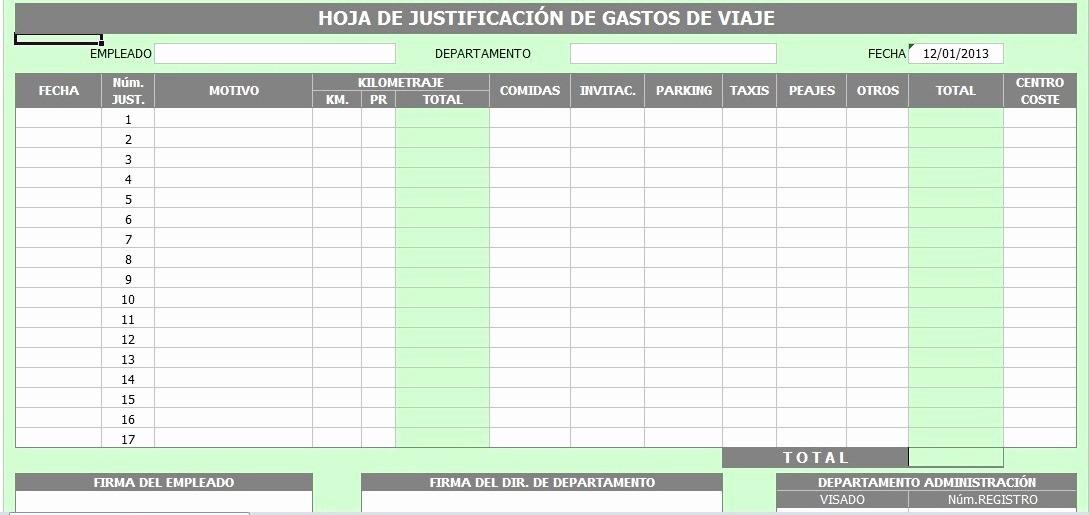 Formatos Para Control De Gastos Awesome formato En Excel De Control De Gastos De Viaje Bs 0 11