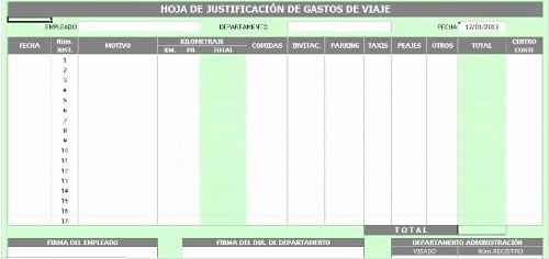 Formatos Para Control De Gastos Best Of formato En Excel De Control De Gastos De Viaje Bs 3 000