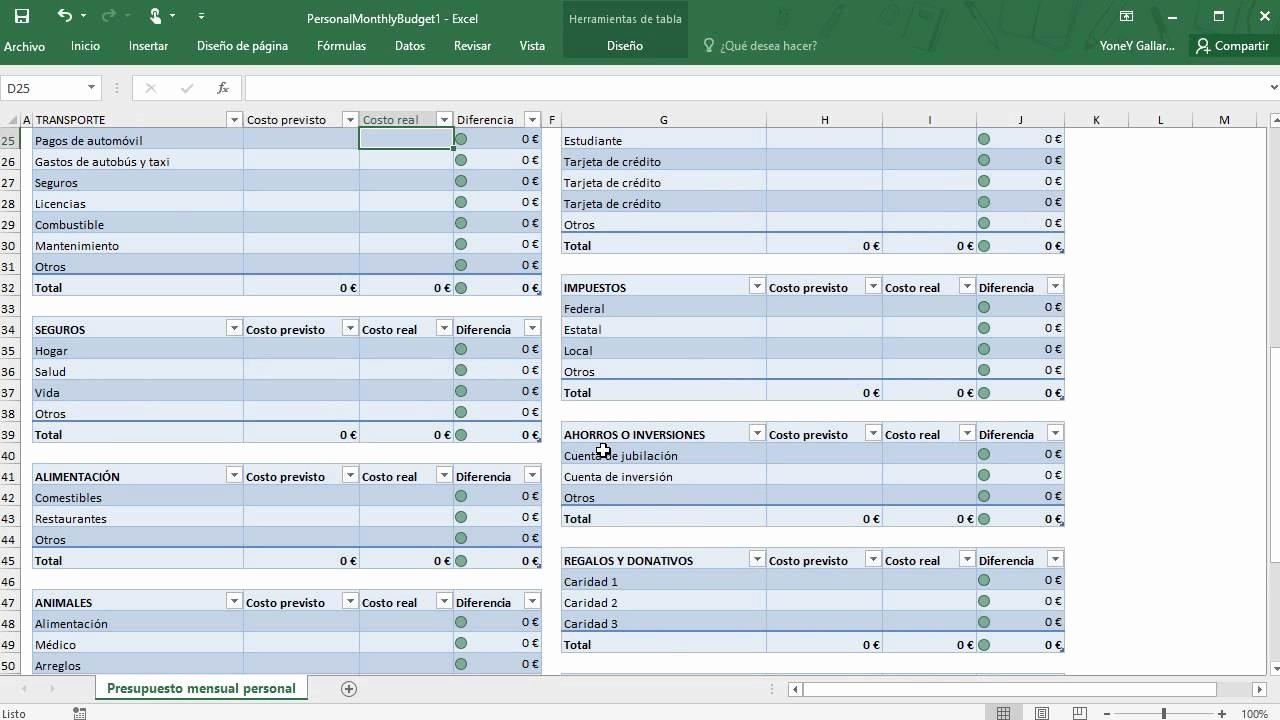 Formatos Para Control De Gastos Elegant Administración De Gastos Personales Con Excel