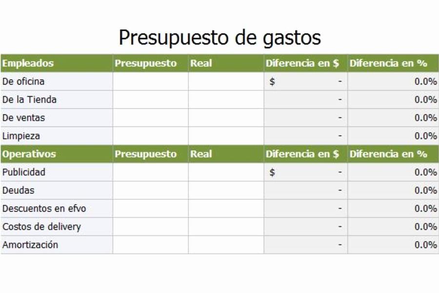 Formatos Para Control De Gastos Fresh Gastos De Empresas En Excel Planillaexcel