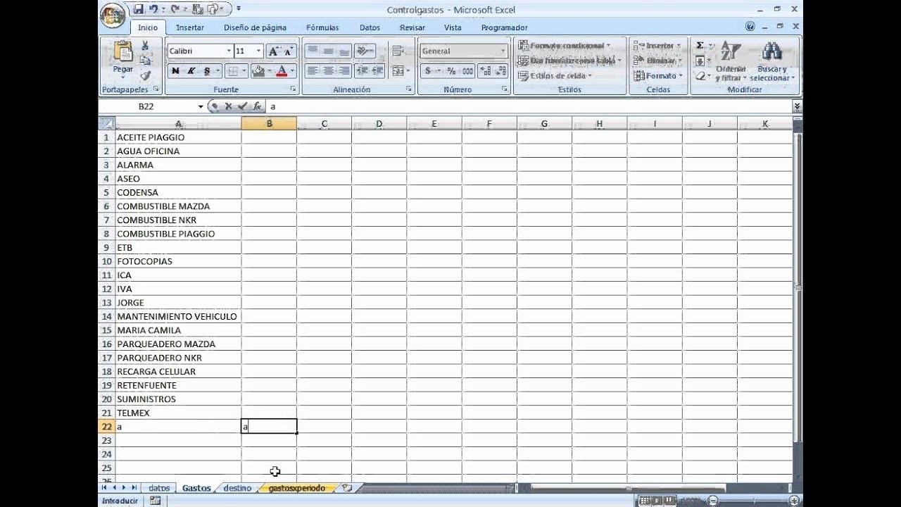 Formatos Para Control De Gastos Luxury Control De Gastos Planilla De Excel Con Base De Datos