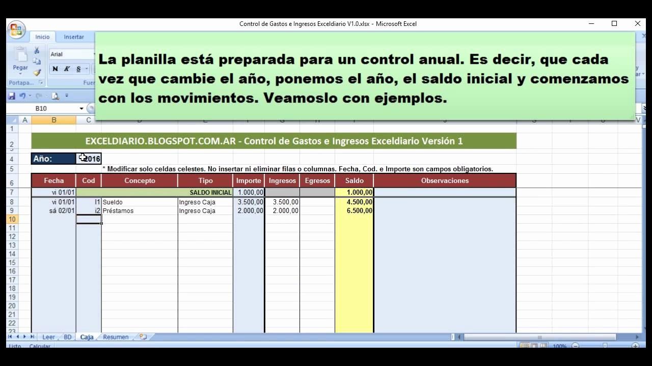 Formatos Para Control De Gastos New Control De Gastos E Ingresos Exceldiario Versión 1