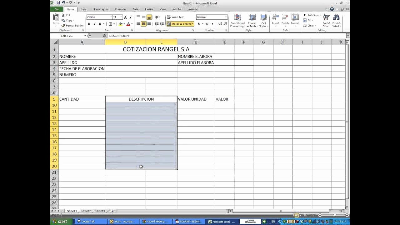 Formatos Para Cotizaciones En Excel Elegant Cotizacion Excel Wmv