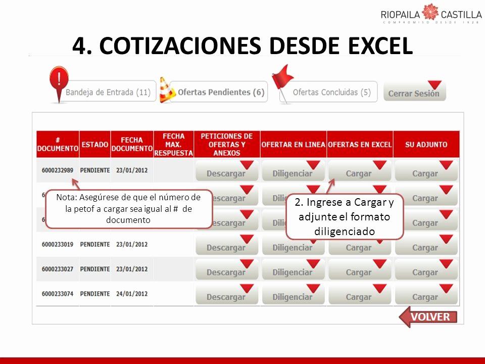 Formatos Para Cotizaciones En Excel New Cotizaciones Desde Excel formatos Si Por Alguna Razn