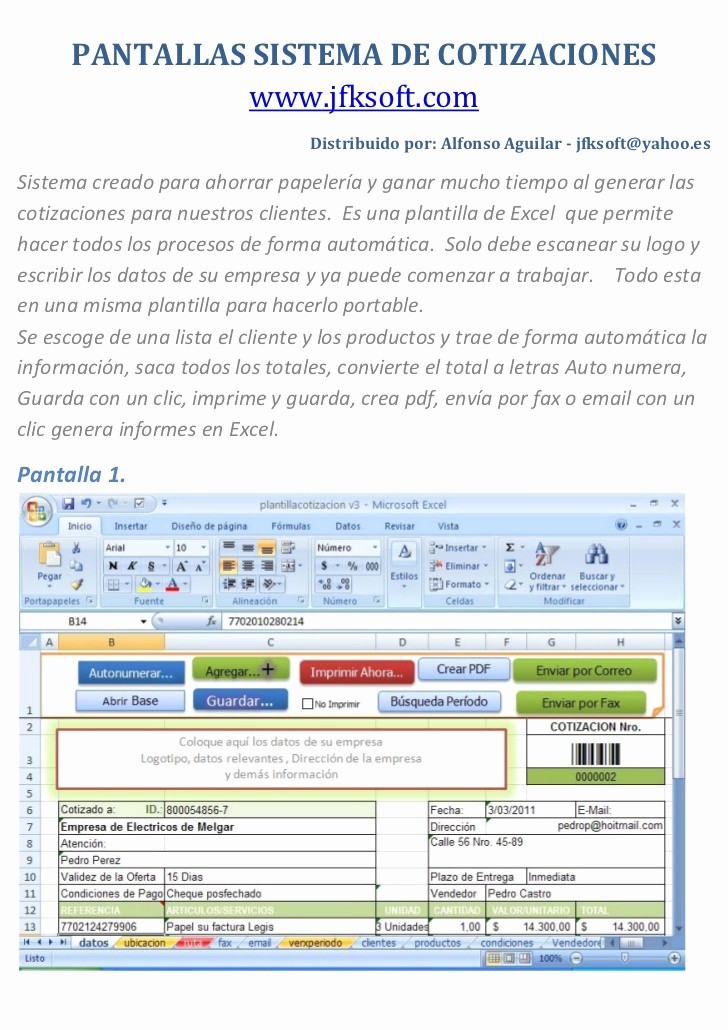 Formatos Para Cotizaciones En Word Elegant formatos De Cotizaciones En Excel
