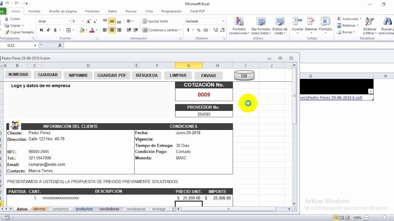 Formatos Para Cotizaciones En Word Inspirational Plantilla De Cotizaciones A Medida Con Excel