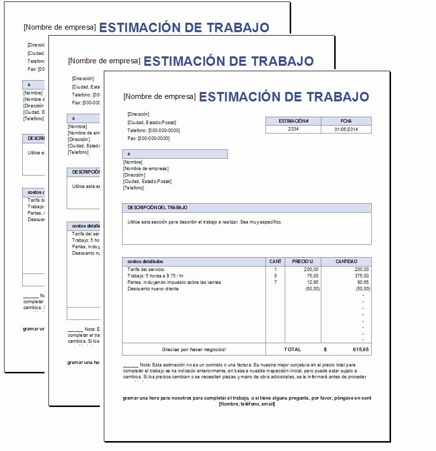 Formatos Para Cotizaciones En Word Lovely Presupuesto De Trabajo Excel – Plantillas Gratis