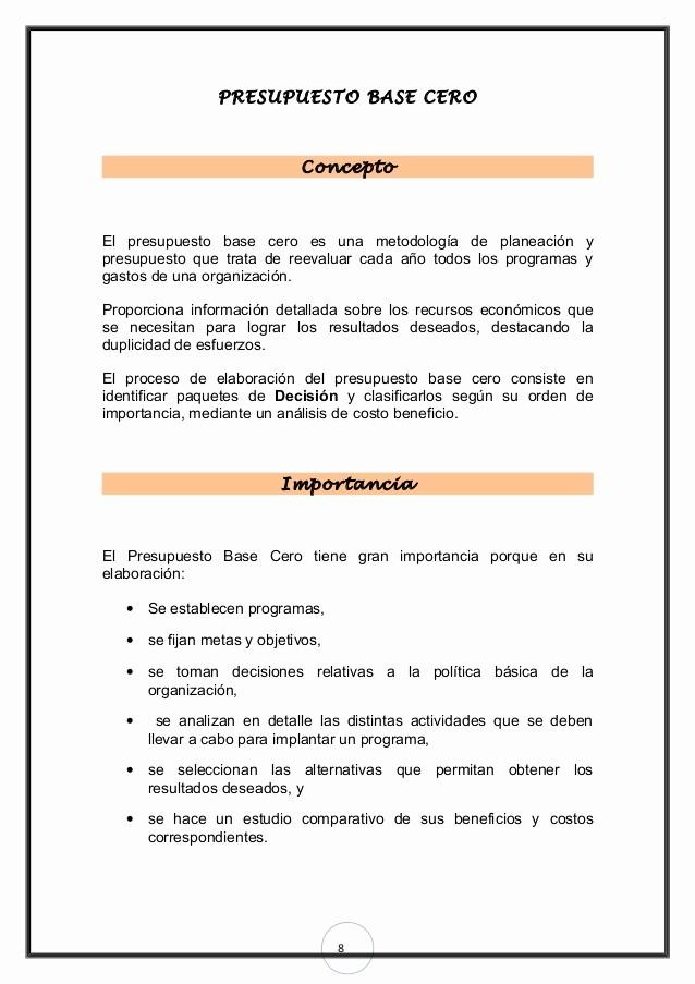 Formatos Para Cotizaciones O Presupuestos Awesome Planeacion Base Cero