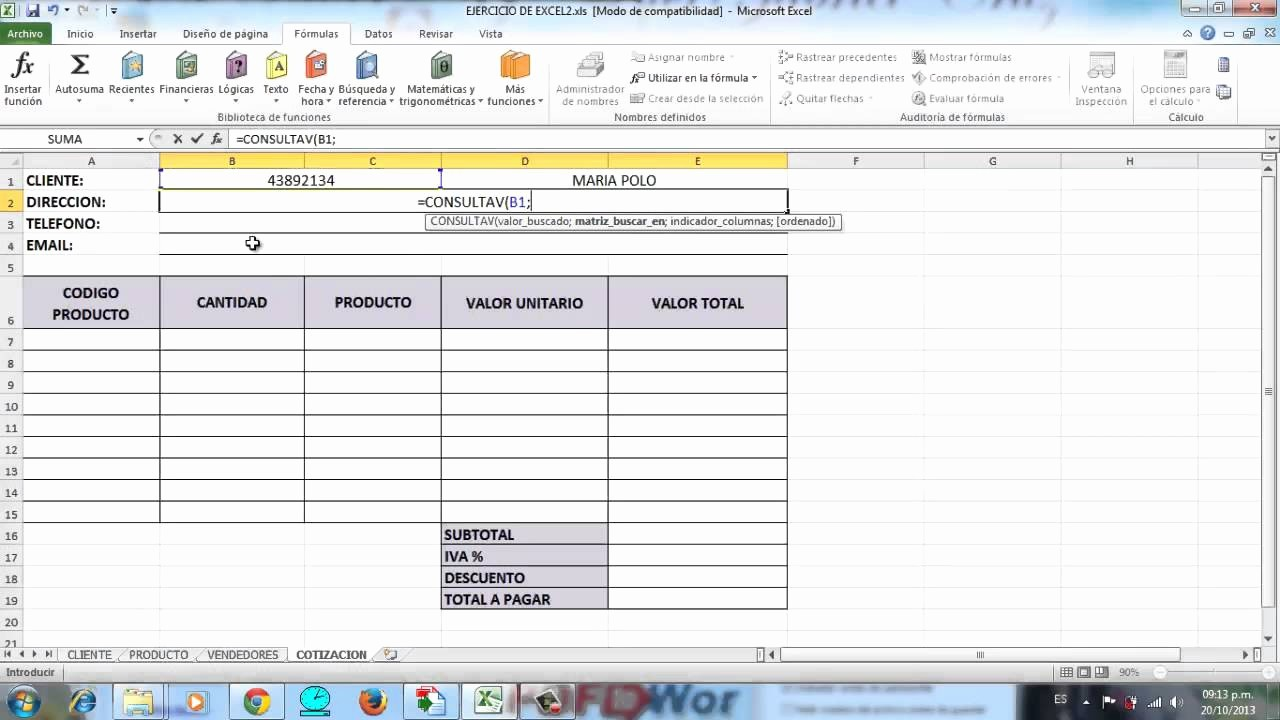 Formatos Para Cotizaciones O Presupuestos Elegant Hoja De Cotizacion Automatizada