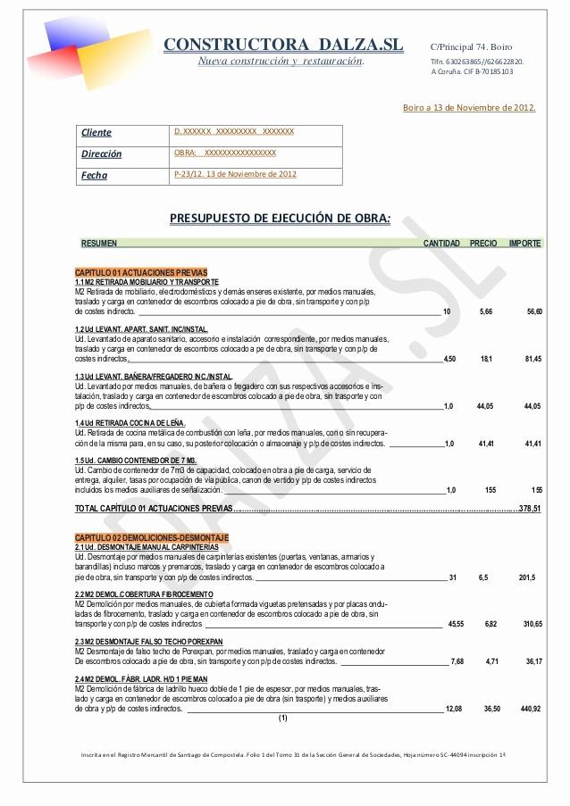 Formatos Para Cotizaciones O Presupuestos Lovely Modelo Presupuesto Dalza Pdf