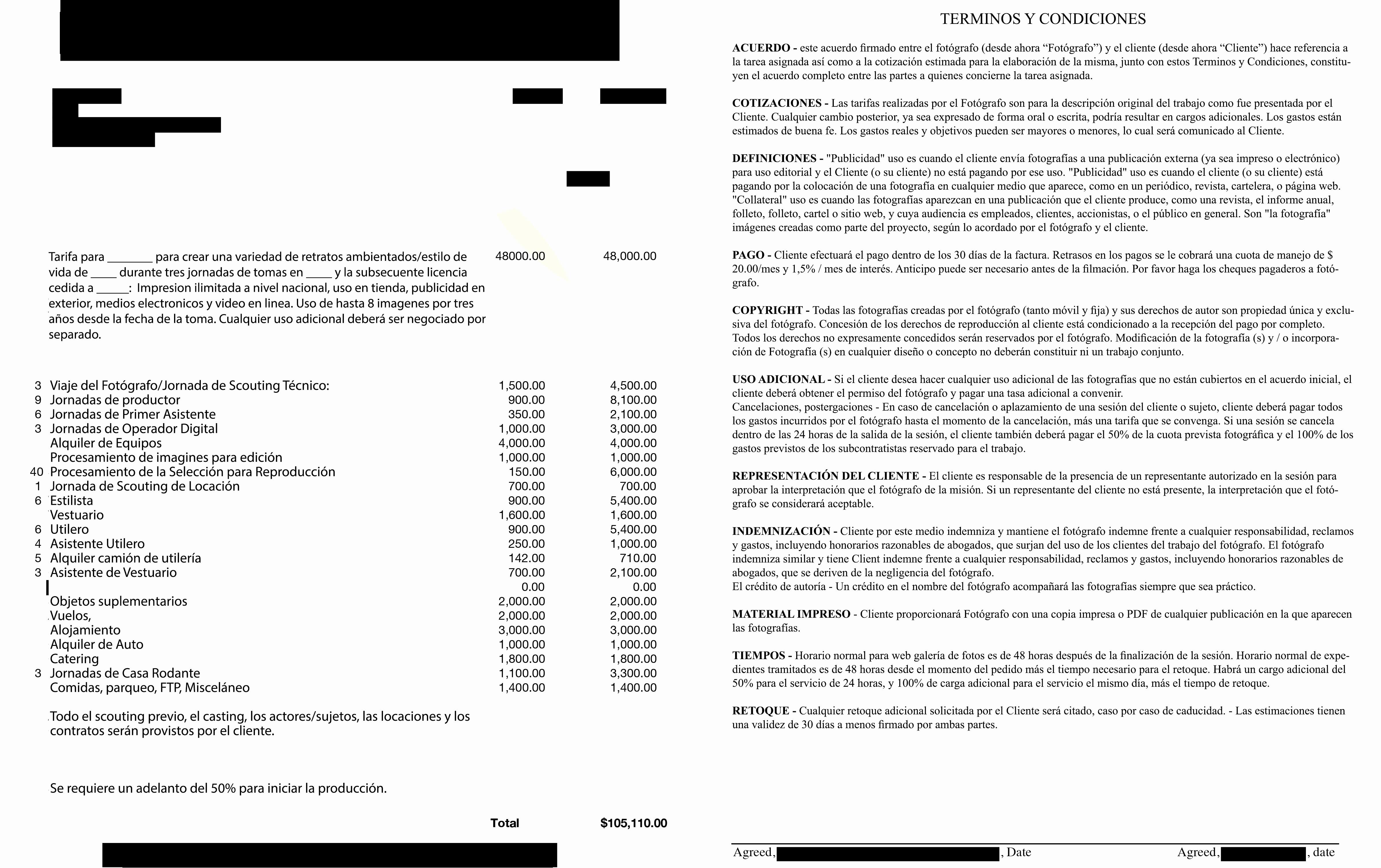 Formatos Para Cotizaciones O Presupuestos Unique as Se Ve Un Presupuesto Fotográfico De Cien Mil Dolares