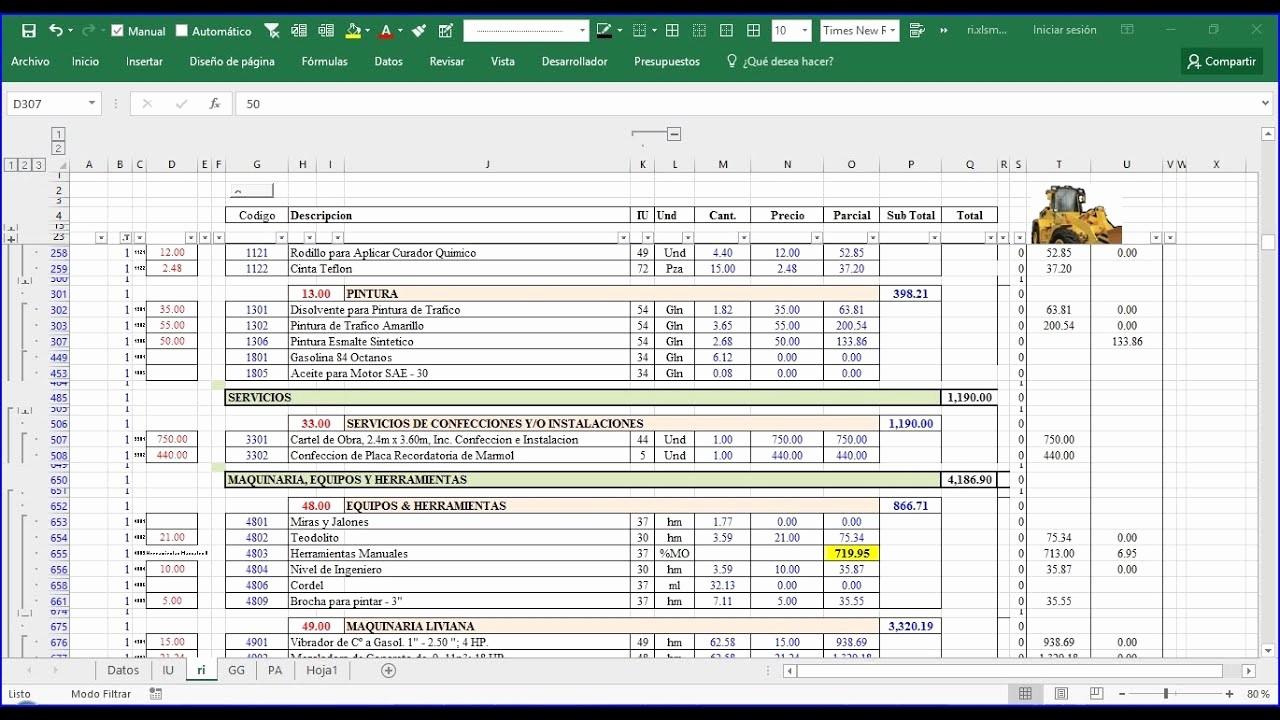 Formatos Para Presupuestos En Excel Awesome Costo Unitario Apu 2 formato De Presupuesto