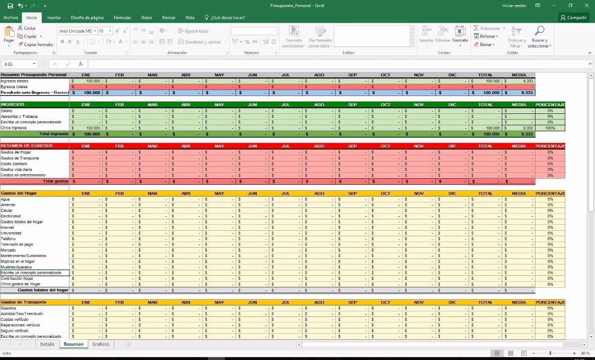 Formatos Para Presupuestos En Excel Luxury formato Presupuesto Excel formato Excel Presupuesto – Contar