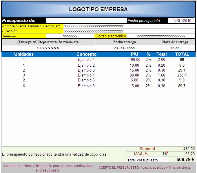 Formatos Para Presupuestos En Excel Luxury Hoja De Presupuesto En Excel