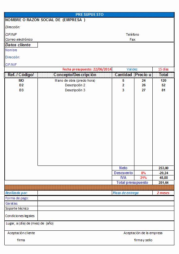 Formatos Para Presupuestos En Excel New Hoja De Presupuesto En Libro De Excel