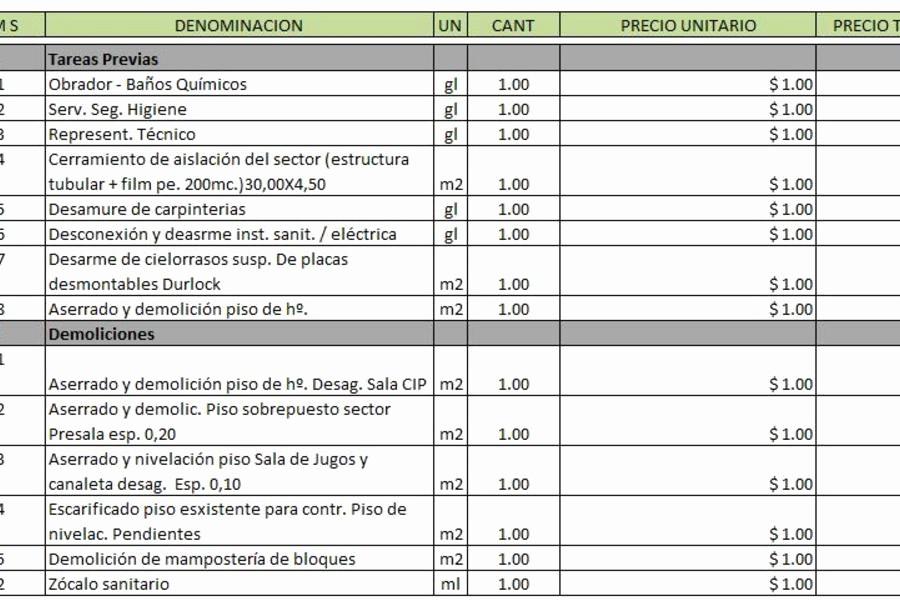 Formatos Para Presupuestos En Excel New Hojas De Presupuestos Para Imprimir