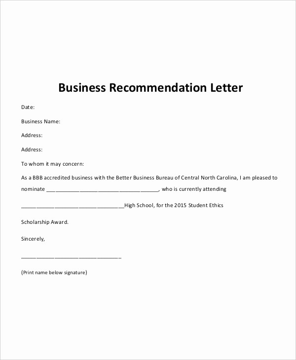 Formats for Letter Of Recommendation Best Of 40 Re Mendation Letter Templates In Pdf