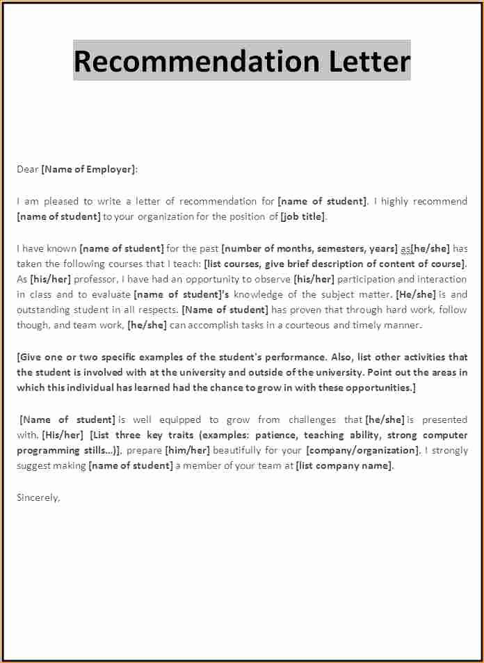 Formats for Letter Of Recommendation Lovely Academic Reference Letter format Business Proposal