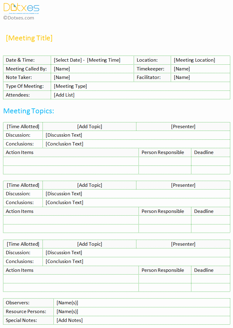 Formats Of Minutes Of Meeting Elegant Minutes Of Meeting Template Standard format Dotxes