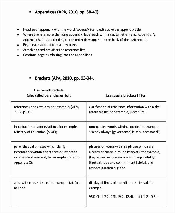 Formatting Apa Paper In Word Beautiful Apa Appendix format