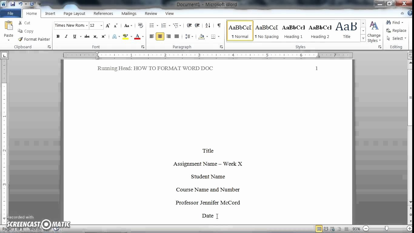 Formatting Apa Paper In Word Elegant How to format A Word Doc for Writing An Apa Style College