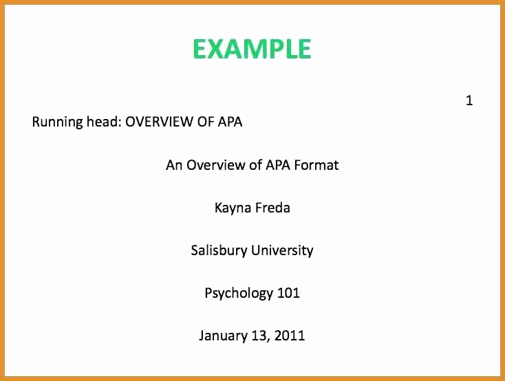 Formatting Apa Paper In Word Inspirational Apa Cover Page Template Word 2007