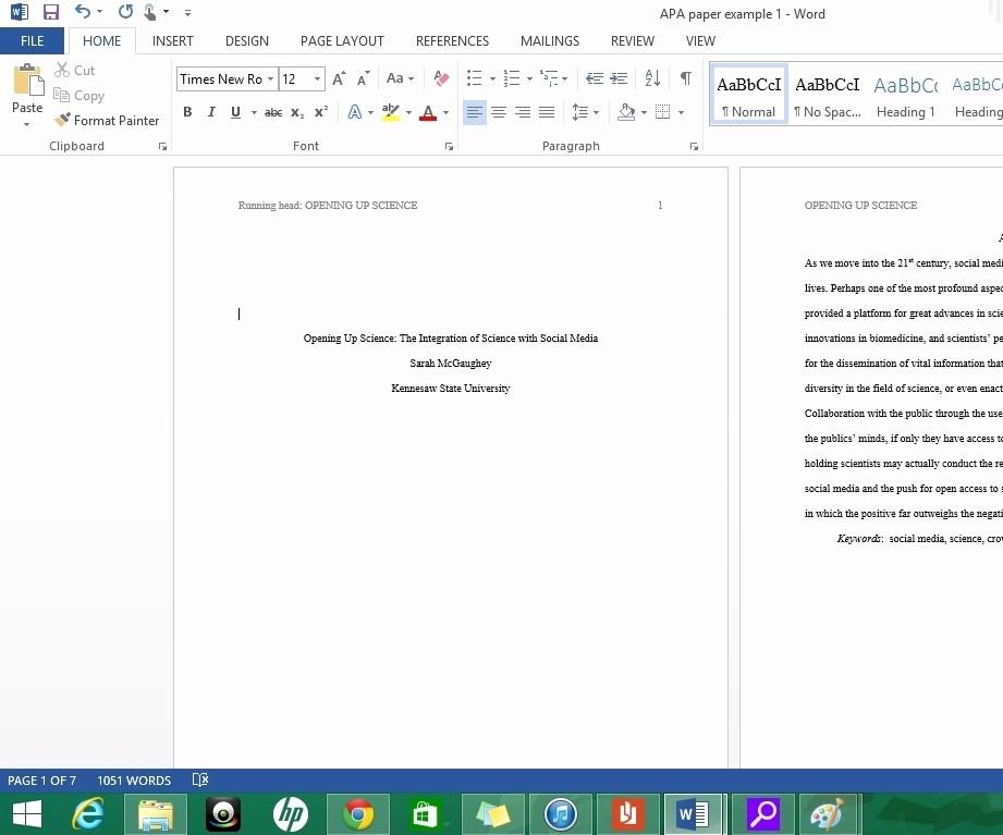 Formatting Apa Paper In Word New Apa format Template Word 2013 Beepmunk