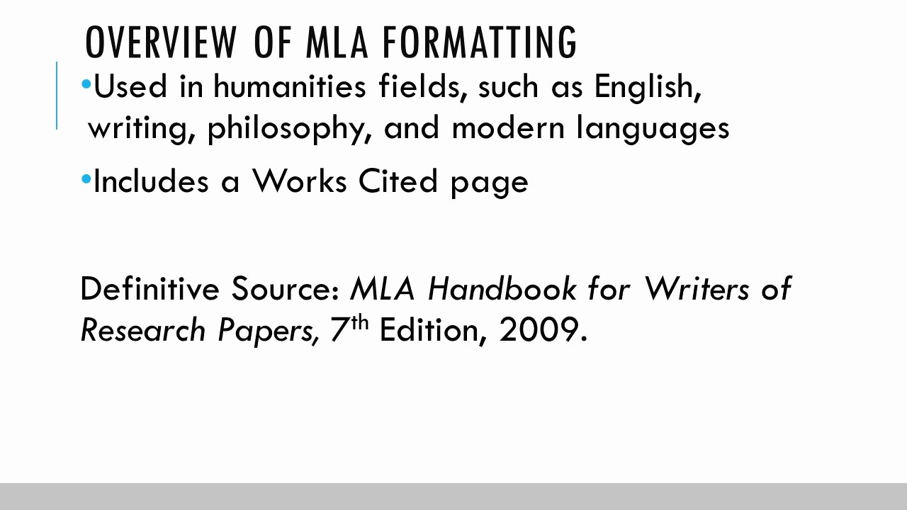 Formatting Mla Works Cited Page Best Of Documentation In Mla format Ppt