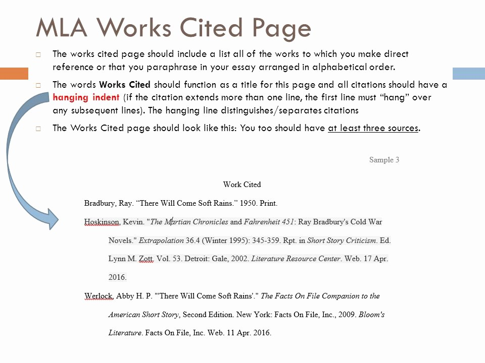 Formatting Mla Works Cited Page New How to Do A Works Cited Page In Mla format for Websites