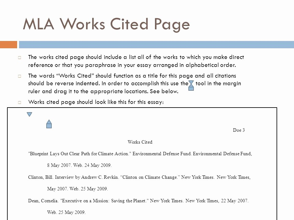 Formatting Mla Works Cited Page Unique Mla formatting and Citation Ppt Video Online