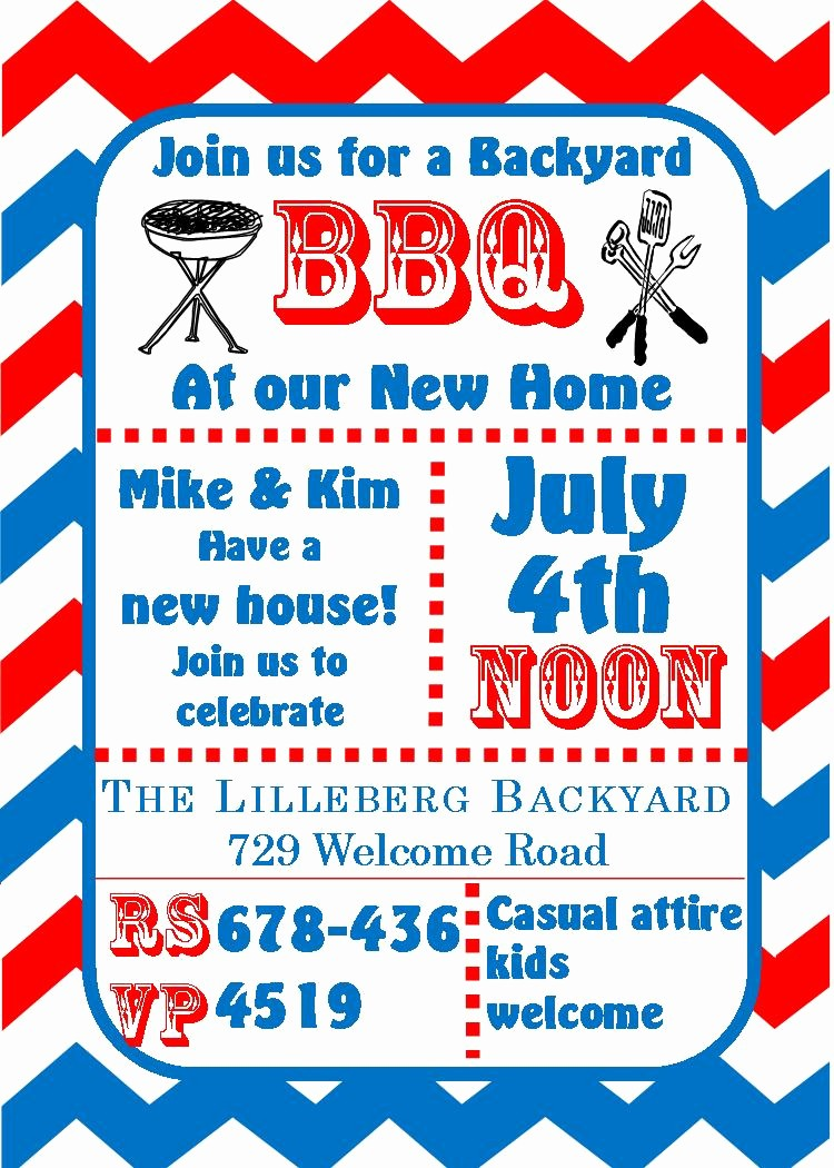 Fourth Of July Invitation Template Best Of 4th Of July Party and Patriotic Invitations for New
