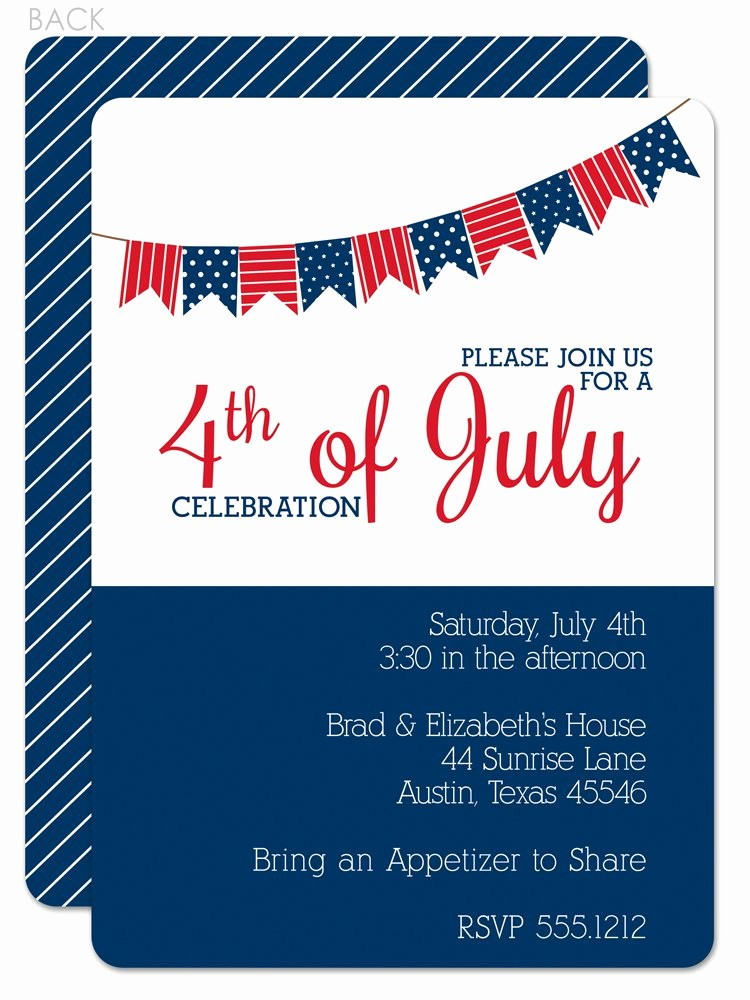 Fourth Of July Invitation Template Best Of Fourth July Wedding Invitations Wedding Invitations