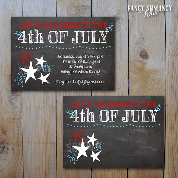 Fourth Of July Invitation Template Best Of Items Similar to 4th Of July Party Invitation Red White