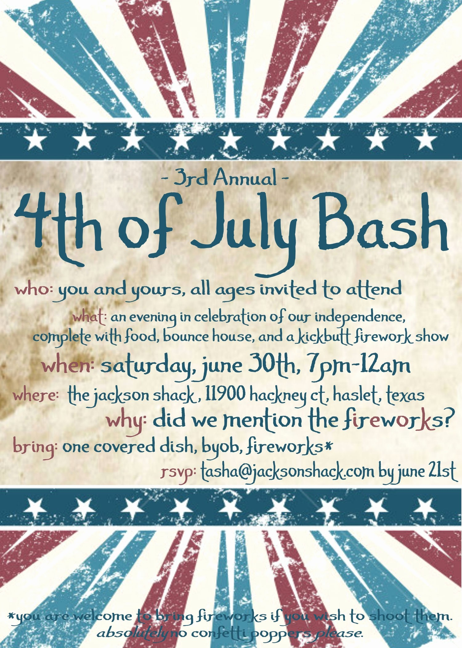 Fourth Of July Invitation Template Best Of Party Invitation Templates 4th Of July Party Invitations