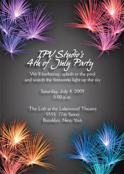 Fourth Of July Invitation Template Inspirational Free 4th July Birthday Invitations Free 4th July