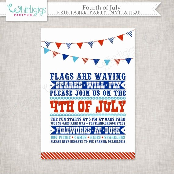 Fourth Of July Invitation Template Lovely 1000 Images About Fourth On Pinterest