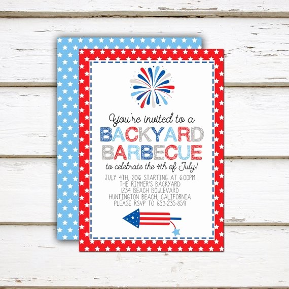 Fourth Of July Invitation Template Lovely Printable Fourth Of July Party Invitation 4th Of July
